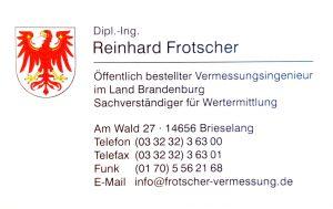 Reinhard Frotscher: After Sales Service von Erdmann Immobilien. Unsere Partner unterstützen Sie auch nach dem Kauf Ihrer Immobilie in Brieselang, Falkensee oder Dalgow-Döberitz.