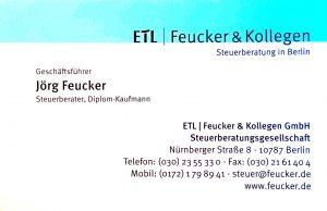 Feucker un Kollegen, Steuerberater: After Sales Service von Erdmann Immobilien. Unsere Partner unterstützen Sie auch nach dem Kauf Ihrer Immobilie in Brieselang, Falkensee oder Dalgow-Döberitz.