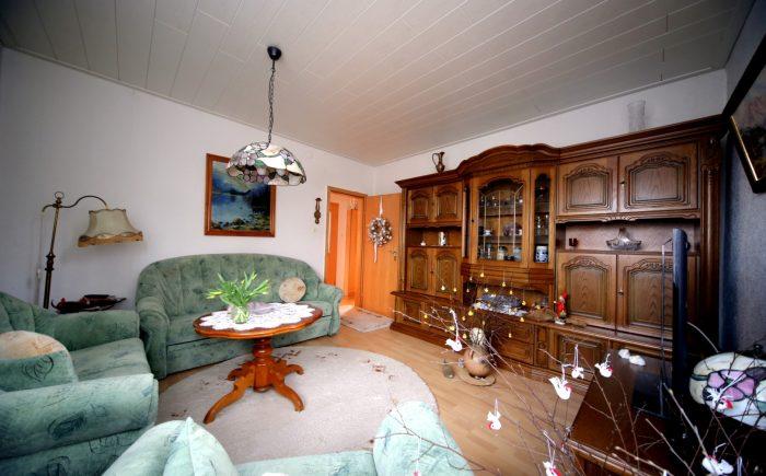 Das Wohnzimmer.