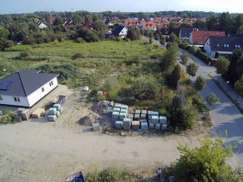 Baugrundstück Brieselang zu verkaufen, Blick nach Norden.